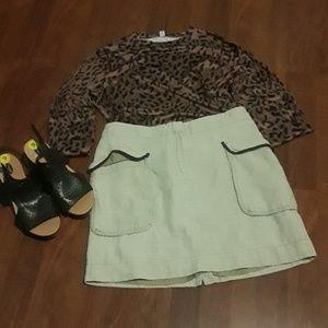 ANN TAYLOR LOFT linen skirt